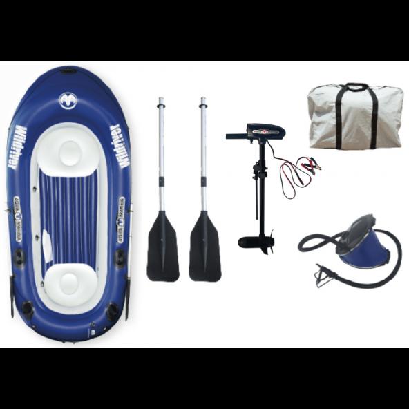 Aqua Marina Wild River Leisure Fishing Gummibåd incl T-18 electrisk motor