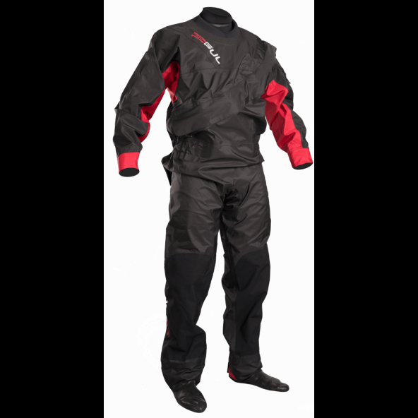 GUL Dartmouth BR Eclip Zip Tørdragt, Black/Red