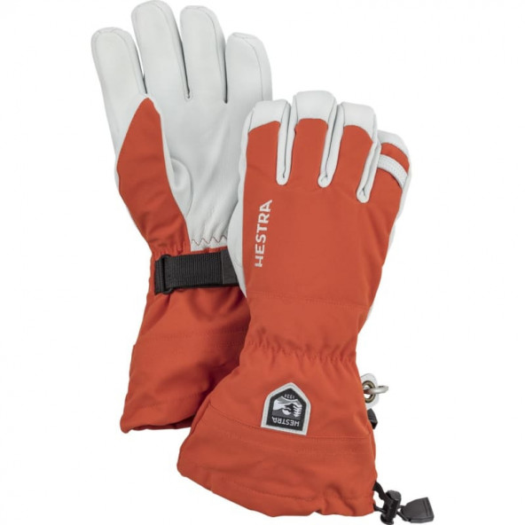 Hestra Army Leather Heli Ski 5 finger Handsker - Orange